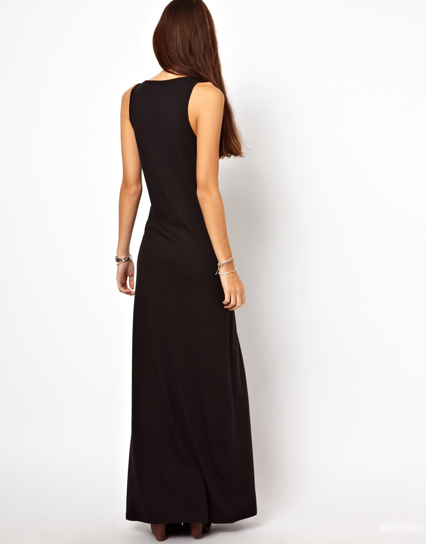 Джерси платье - майка в пол