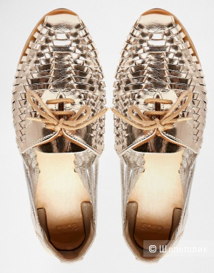 Летние кожаные туфли ASOS 40.5 размера