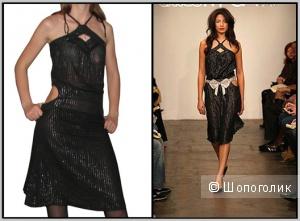 Черное платье с люрексом Alice McCall (42-44р)