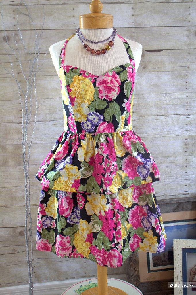 Яркое цветочное платье Victoria`s secret