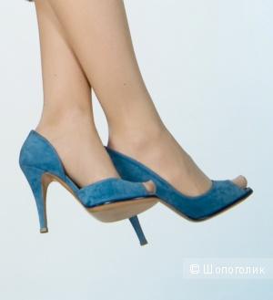 Туфли из нубука Италия 37 европейский размер