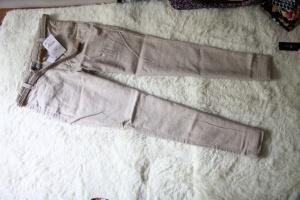 Льняные светлые брюки Zara в комплекте с ремешком новые