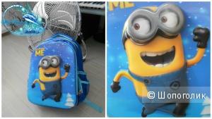 Забавный 5D рюкзак с ортопедической спинкой МИНЬОН