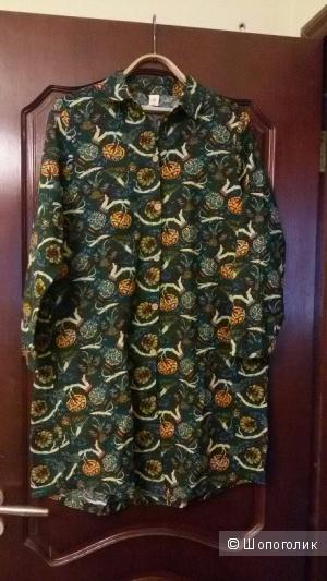 Платье-рубашка дизайнерское новое