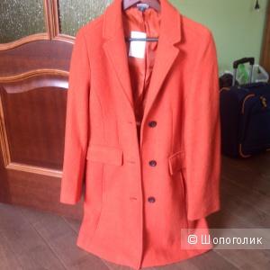 Новое, яркое весенне/летнее пальто Landsend размер 10 на наш 46й, шерсть/вискоза