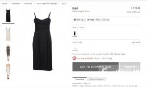 платье DOLCE&GABBANA с yoox новое. оригинал р.44