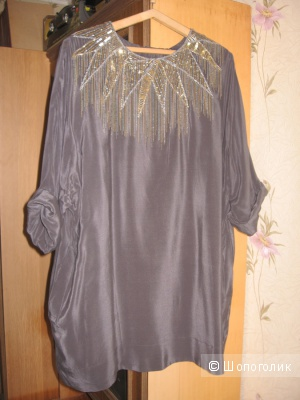 Шелковое платье-рубашка French Connection Maternity