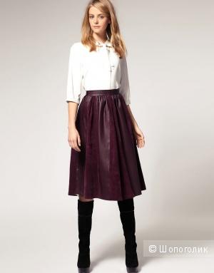 Новая кожаная юбка Asos UK6