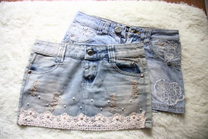 Милые мини юбочки джинсовые
