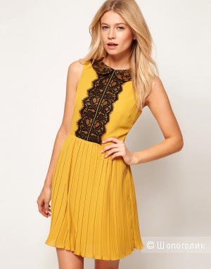 Итак, ASOS Skater Dress With Lace Peterpan Collar And Placket / юк 10