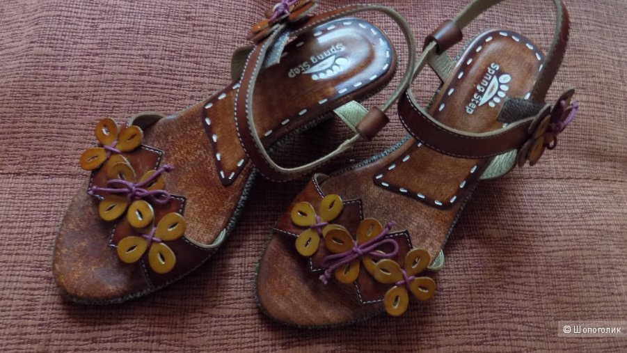 новые кожаные босоножки Spring Step Tarragon