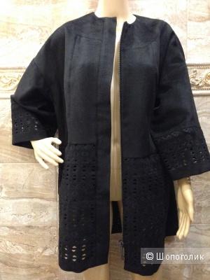 Catherine Malandrino потрясающее пальто-баллон резной узор Новое.Оригинал р.46