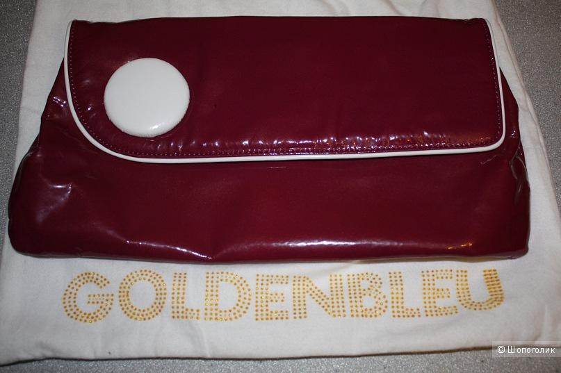 Клатч из лакированной кожи Goldenbleu (Италия)