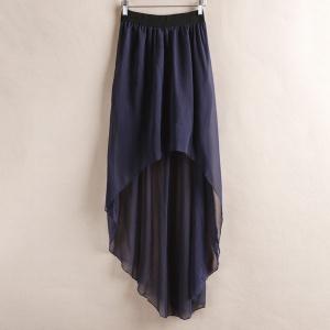 Асимметричная шифоновая юбка с подкладом-хит сезона!