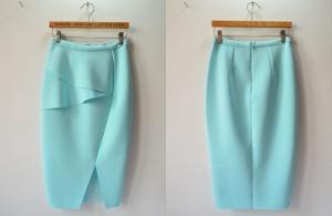 Эксклюзивная качественная юбка-карандаш из неопрена. М размер.