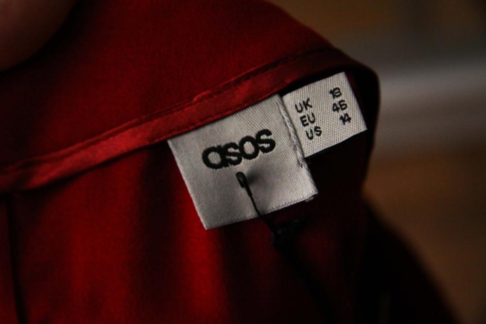 Бордовое платье-футляр ASOS  46-48 размера