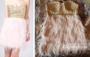 Платье LIPSY из страусиных перьев