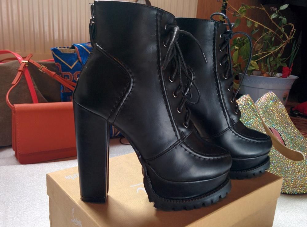 Кожаные ботинки, удобная колодка