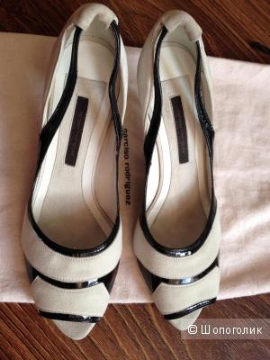 летние туфли от легендарного Narciso Rodriguez р.37.5 Новые.Оригинал
