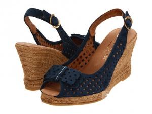 Босоножки на танкетке синие  Wedge Sandal 36 размер Eric Michael Ashley