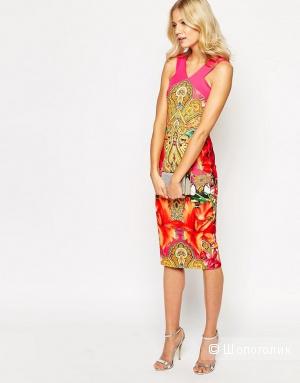 Платье с принтом пейсли, туканами и эффектом перекреста Ted Baker