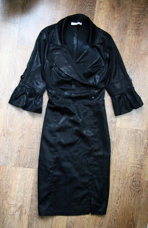 Платье-пальто с запахом миди 44-46