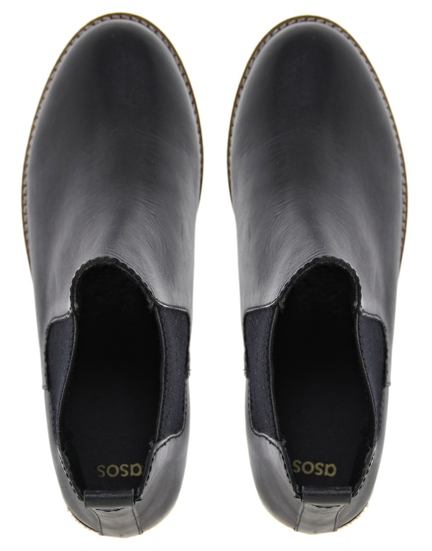 Кожаные ботинки челси Asos