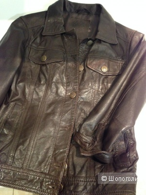 Stradivarius куртка натуральная кожа. Недорого