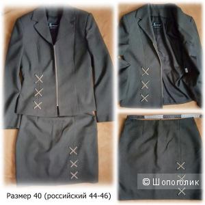 ШИКАРНЫЙ костюм с юбкой размер 44-46