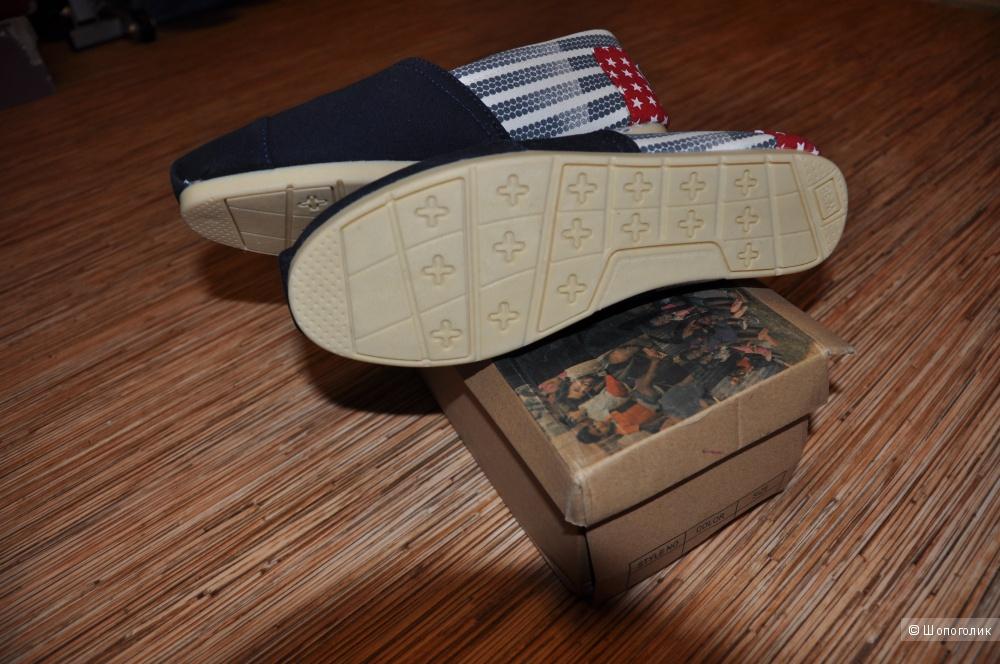 Тапочки-балетки TOMS, 23,5 см по стельке, новые