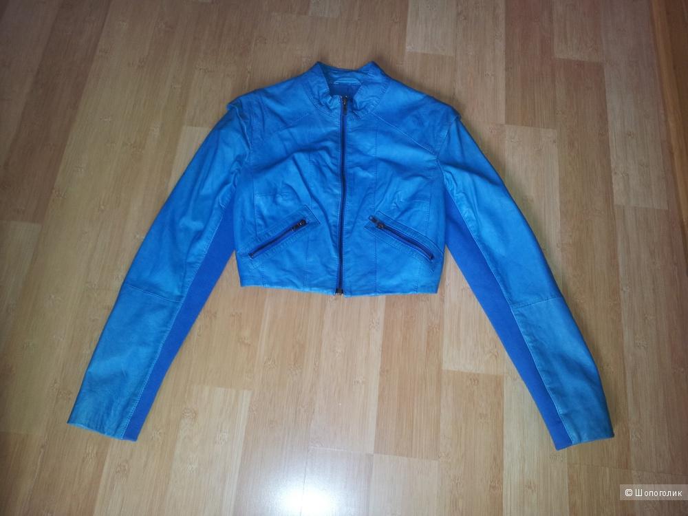 Укороченная кожаная куртка Asos UK8