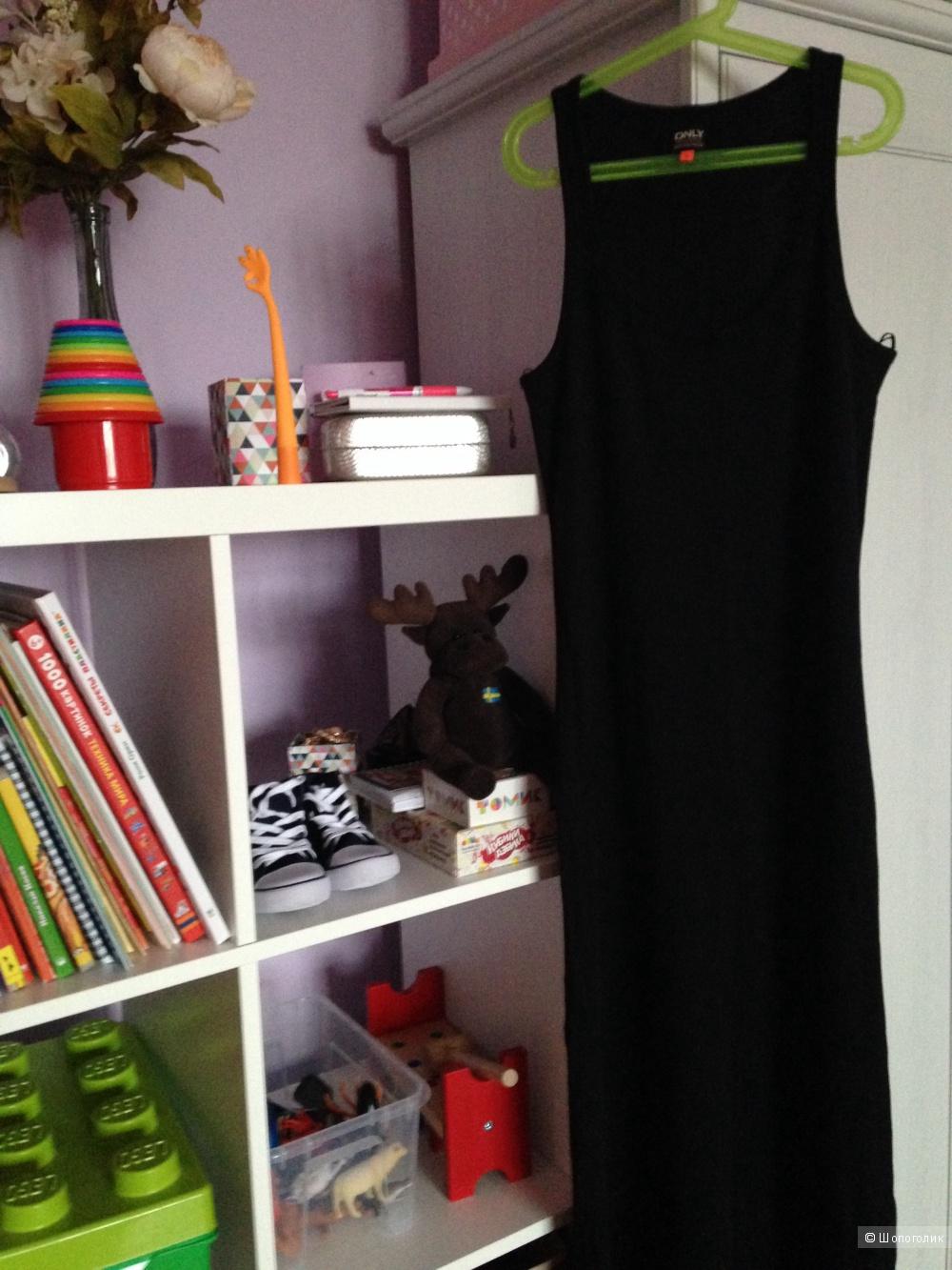 Новое длинное черное платье Only
