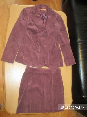 Новый вельветовый костюм пиджак+юбка (Wool&cotton)