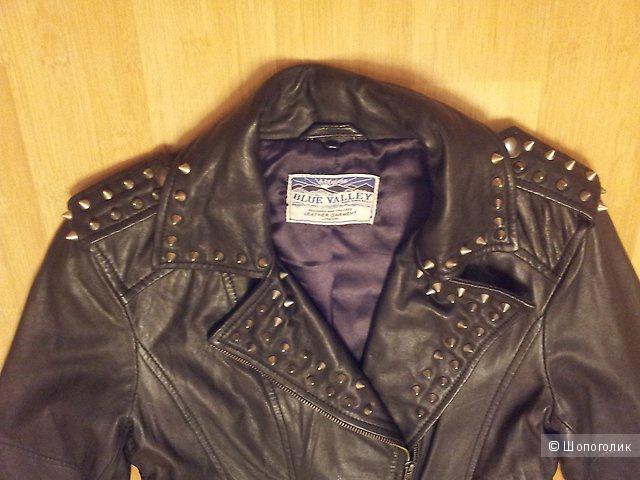 Кожаная куртка Blue Valley UK8 новая