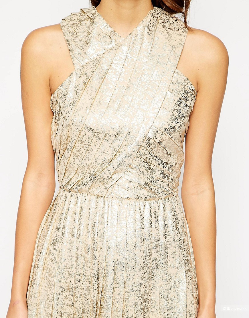 Очень красивое платье цвета металлик VLabel London