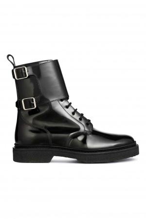 Высокие мужские лакированные ботинки BALMAIN x H&M. В размере 44. Абсолютно новые, в коробке, со всеми ярлыками.