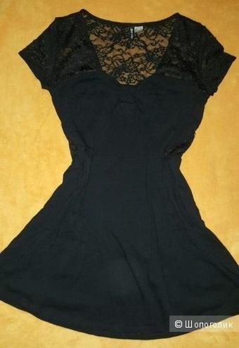 Черное платье H&M размер L (46-48 российский)