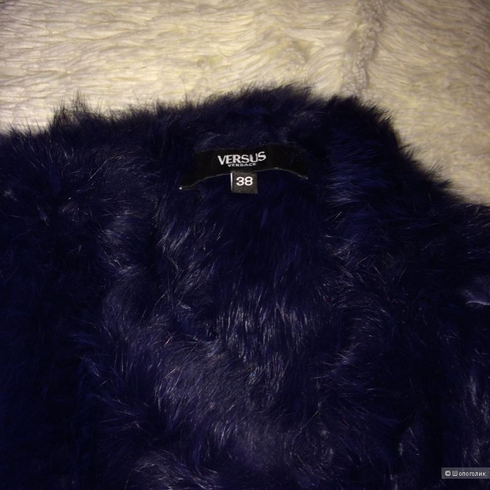 Меховой джемпер с коротким рукавом Versus