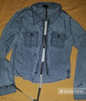 Жакет, короткая рубашка с длинным рукавом на молнии FOX