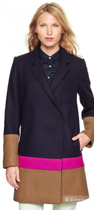 Новое шерстяное пальто GAP