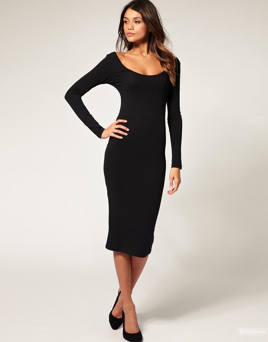 Платье черное  в стиле Софи Лорен