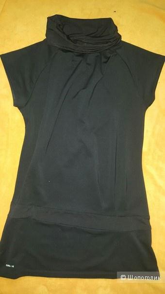 Туника черного цвета с воротником хомут Adidas (оригинал)