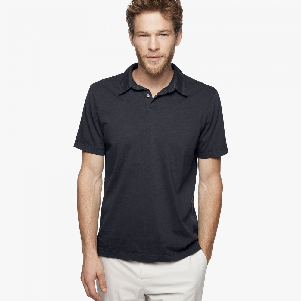 Поло James Perse (SUEDED JERSEY POLO) размер S