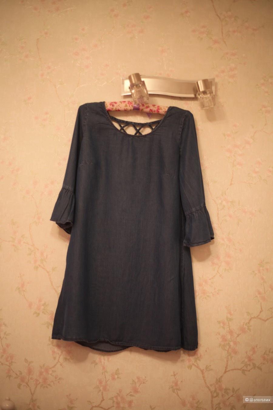 Новое платье деним интересного фасона, HM, р-р М (44), рост до 170