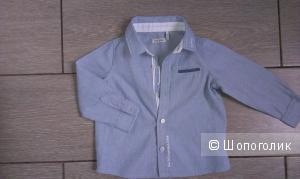 Рубашка IKKS Франция, для мальчика 6-9 мес.