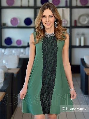 Платье casino 48 размер зеленое