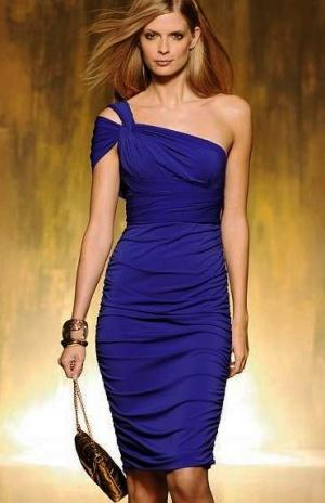 Приталенное платье-трансформер 44/46/48 синего цвета