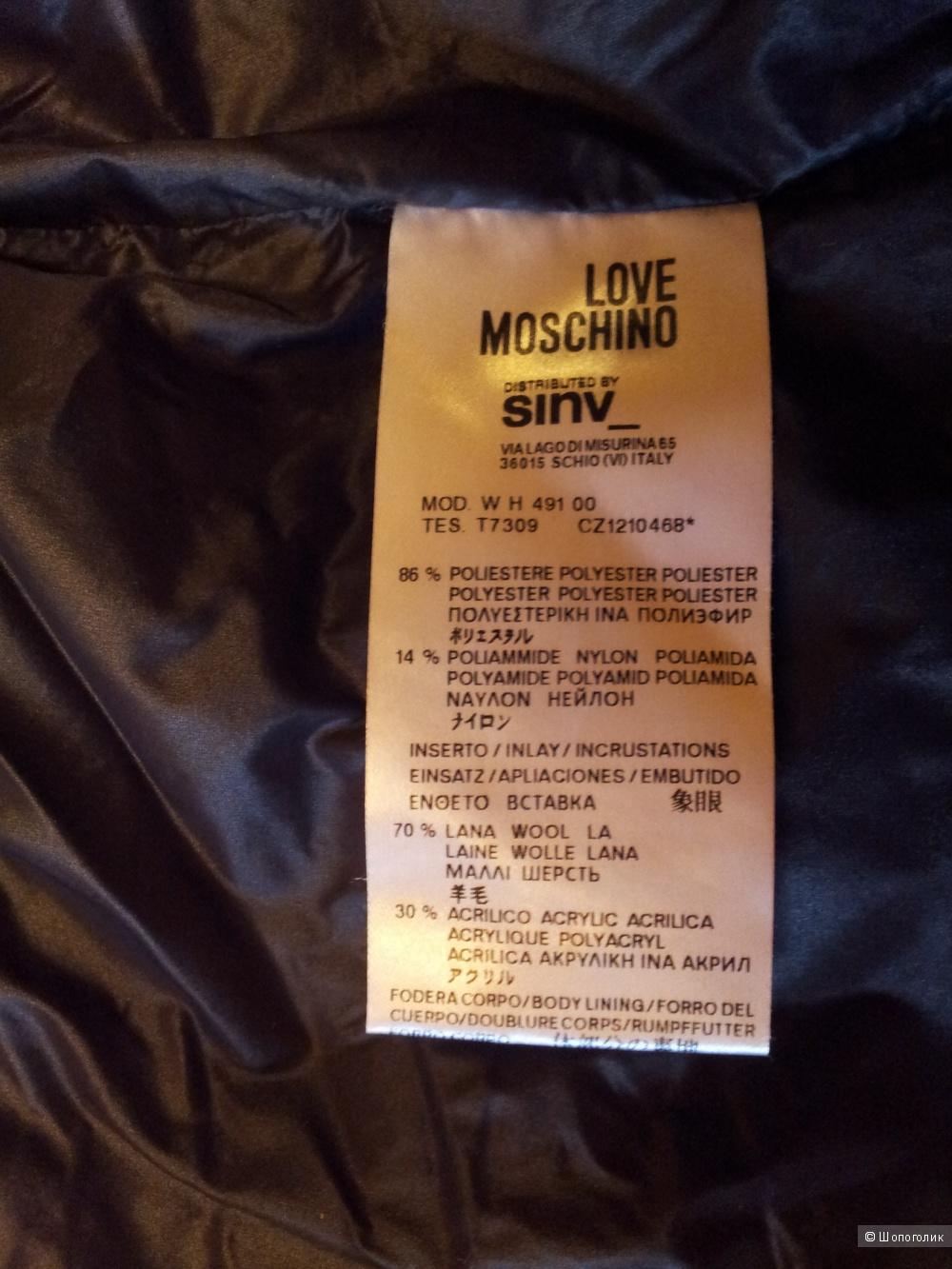 Пуховик LOVE MOSCHINO 40IT оригинал