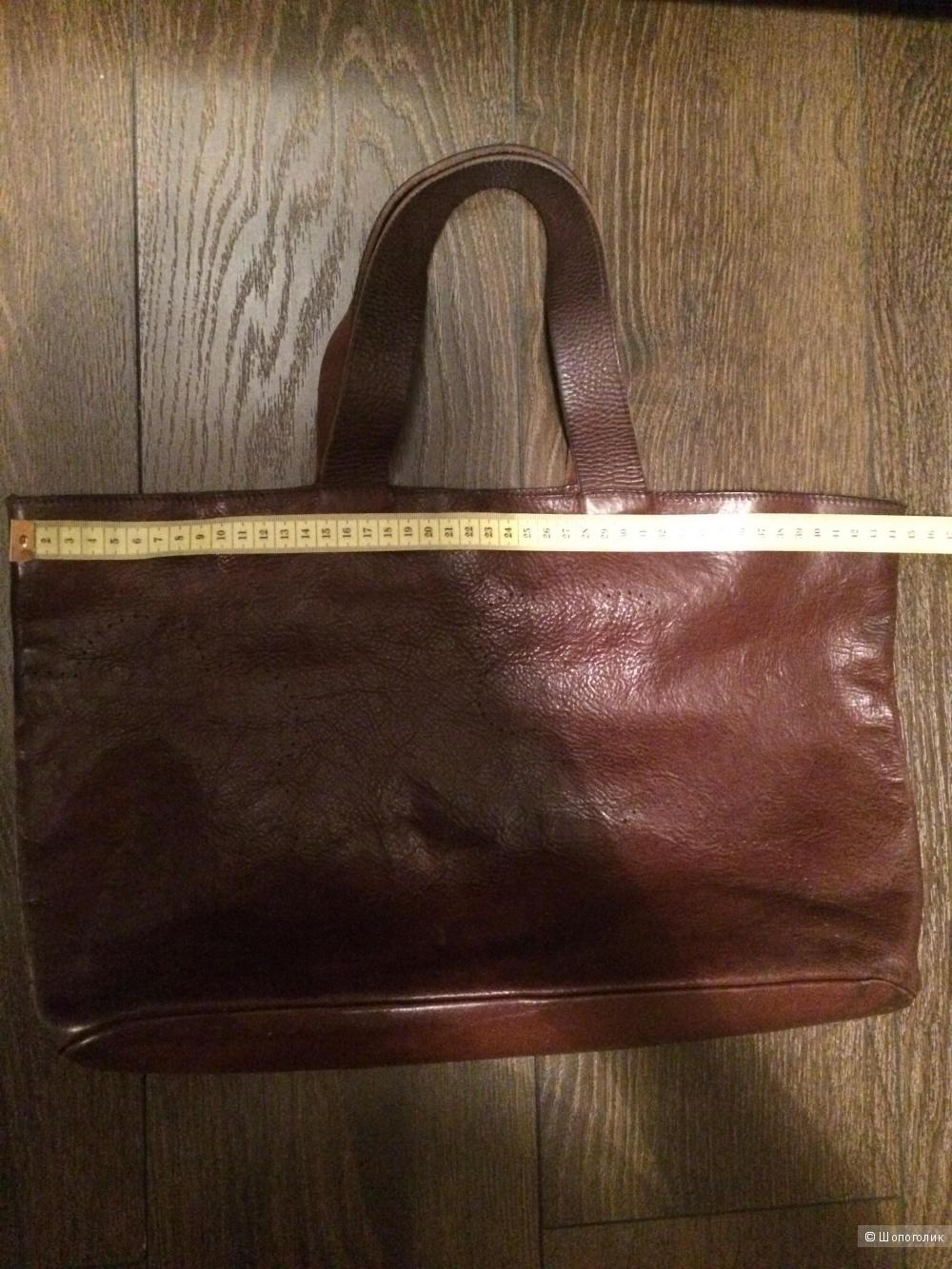 Большая Сумка Furla коричневого цвета, б/у, оригинал