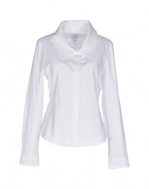 Рубашка ARMANI COLLEZIONI, белая, размер 48 (Российский размер) - дизайнер: 46 (IT)